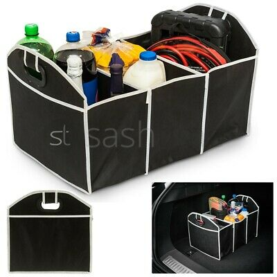 2-in-1 Car Boot Organiser Shopping Tidy Heavy Duty Collapsible Foldable Storage • 5.95£