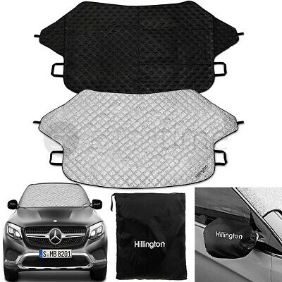 Car Reversible Windscreen Cover Windshield Aluminium Snow Ice Frost Sun UV Dust  • 11.95£