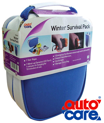 Autocare Winter Survival Pack  Torch, Tow Rope, Ice Scraper, Emergency Blanket • 12.76£
