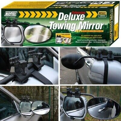 Maypole Extension Deluxe Towing Mirror Convex Glass Towing Car Caravan Motorhome • 15.99£