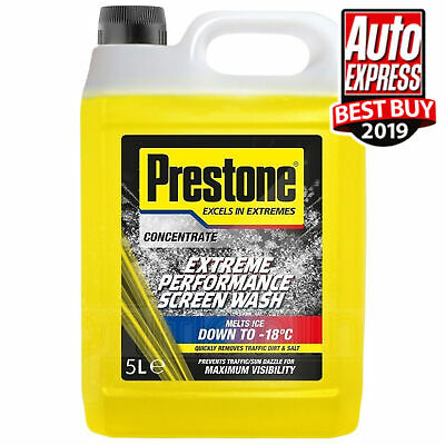 Prestone Extreme Performance Concentrated Screenwash Winter Melts Ice 5 Litre • 13.99£