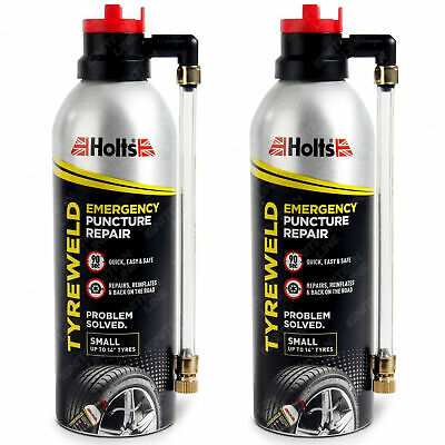 2 X Holts Tyreweld Tyre Weld Emergency Puncture Repair Seals Inflates Tyre 300ml • 12.99£
