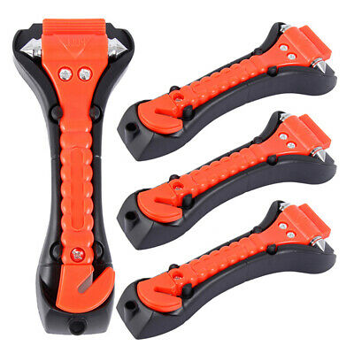 4X Emergency Hammer Car Safety Glass Window Breaker Seat Belt Cutter Escape Tool • 11.99£