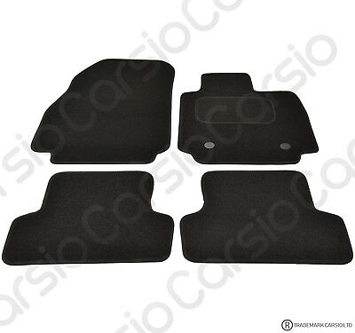 Clio MK4 2013 - Onwards Fully Tailored Black Car Floor Mats Carpets 2 Clips • 11.26£