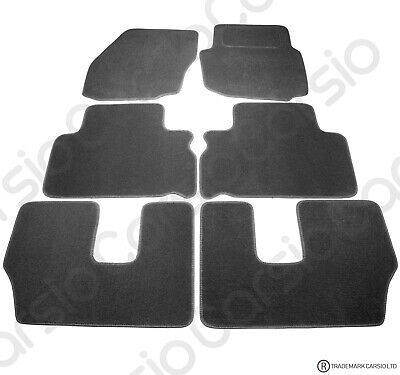 Ford S-Max 7 Seater 2006 To 2014 Tailored Black Car Floor Mats Carpets 6pc Set • 13.29£