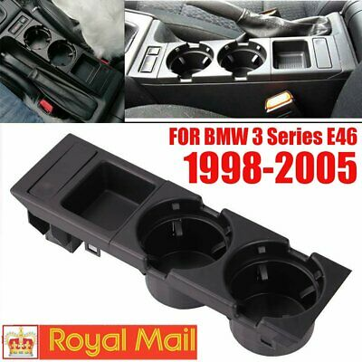 For BMW E46 320I 1998-2005 Center Console Drink Cup Holder Coin Storage UK SALE • 17.89£