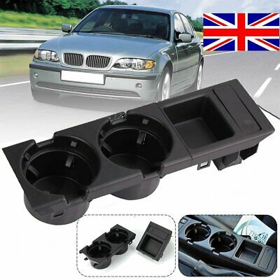 For BMW E46 318 320 330 1998-05 UK Center Console Drink Cup Holder Coin Storage • 17.87£