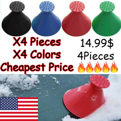 US Magical Car Windshield Ice Snow Remover Scraper Tool Cone Shaped Round Funnel • 15£