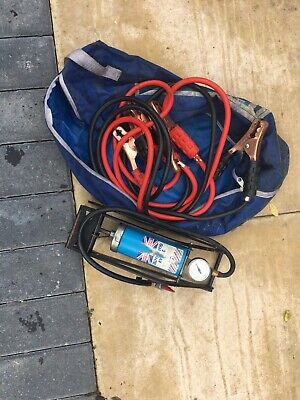 Car Jump Leads And Foot Pump • 6£