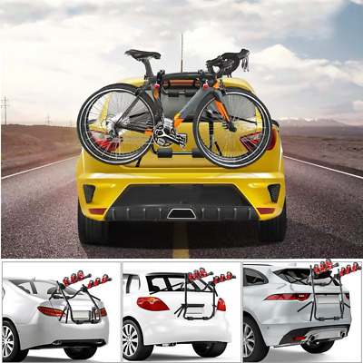 3 Bicycle Bike Car Cycle Carrier Rack Universal Fitting Saloon Hatchback Estate • 24.99£