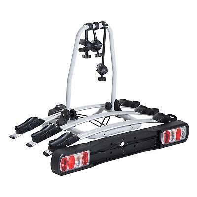 HOMCOM Bicycle Carrier Rear-mounted Bike Rack Rear Tow Bar Carrier Outdoor • 139.99£