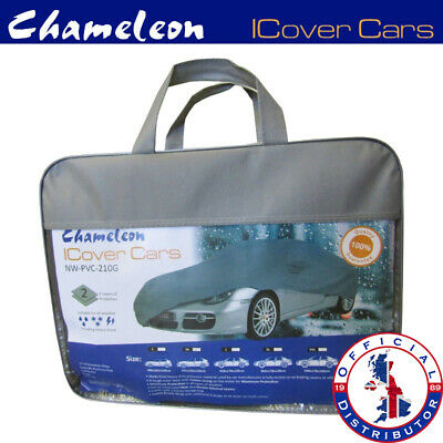 Large Universal (L) Full Car Cover 100% Water Rain Resistant UV Protection • 37£