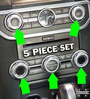 Silver Trim Interior Radio/aircon Button Covers For Discovery 4 HSE Luxury LR4 • 32£