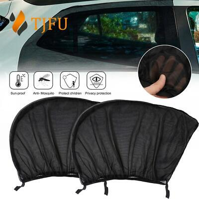 2pc Car Window Shield Sun Shade Protect Universal Rear Curtain For Baby Kid Rest • 5.19£