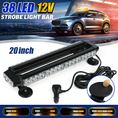 UK Recover Light Bar 24inch 12V Flashing Beacon Truck Light Strobes Amber Led • 50.79£