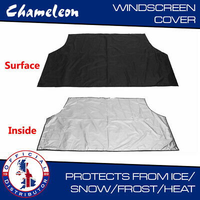 WINDSCREEN COVER Car Window Screen Frost Ice Snow Sun Visor  Dust Protector Lge • 7.85£