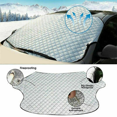Sun & Ice Windscreen Cover Protector Frost/Ice/Snow/Heat Car Van Aluminium • 8.45£