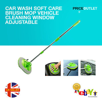Car Brush Wash Soft Care Mop Vehicle Cleaning Window Adjustable Telescopic 2020 • 9.99£
