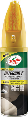 Turtle Wax Interior 1 Car Seat Upholstery & Carpet Dry Foam Cleaner With Brush • 6.30£