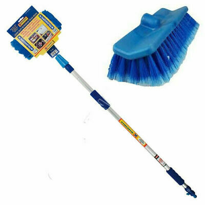 Car Wash Brush Telescoping Handle Vehicle Cleaning Tool Soft Truck Mop 2m New • 11.50£