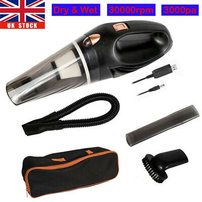 UK Hand Held Vacuum Cleaner Small Hoover Wet & Dry Rechargeable Cordless Car Vac • 18.96£