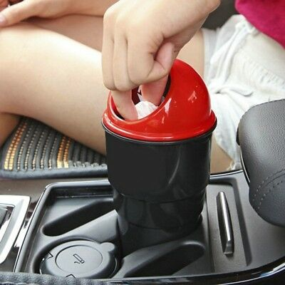 Auto Car Garbage Can Trash Case Dustbin Portable Holder Bin For Home Office • 5.79£