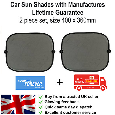 2 X Car Sun Shades Shade Screen Protector Kids Baby Children Window Blind Mesh • 3.99£