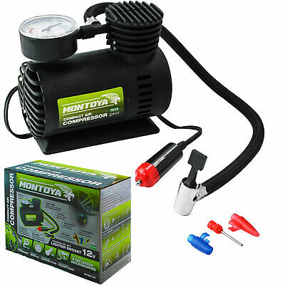 Montoya Car Tyre Air Compressor Pump Bike Cycle Compact 3m Cord 12V Inflator • 9.99£