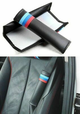 2x Car Sport Carbon Fiber Seat Belt Cushion Cover Pads M Tri Color For BMW M3 X5 • 8.95£