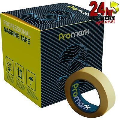 Promask3 Masking Tape 24mm Box Of 36 Professional 80°C Low Bake Easy Clean • 34.95£