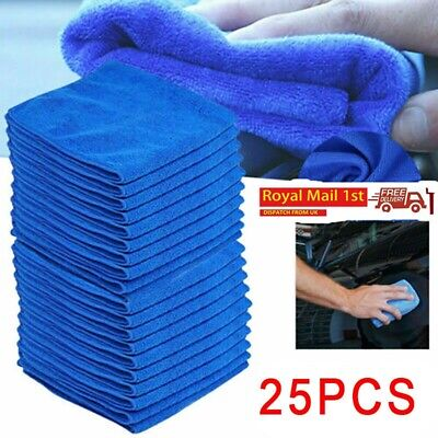 25x Large Microfibre Cleaning Auto Car Detailing Soft Cloths Wash Towel Duster • 7.99£