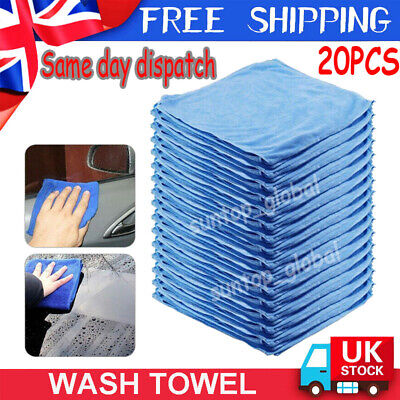 25x Large Microfibre Cleaning Auto Car Detailing Soft Cloths Wash Towel Duster • 11.19£