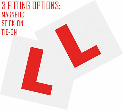 2 X Aa L Plates Fully Magnetic Secure Learner Driver Exterior Car Bike • 2.89£