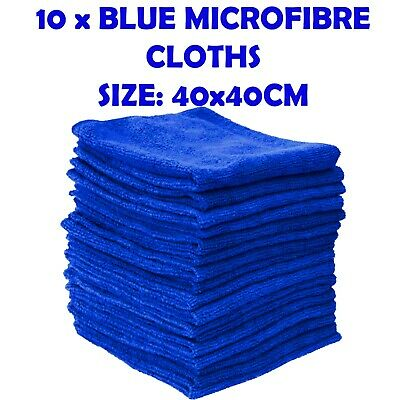 10 X LARGE MICROFIBRE CLEANING AUTO CAR DETAILING SOFT CLOTHS WASH TOWEL DUSTER • 7.95£