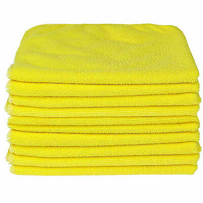 10 X LARGE MICROFIBRE CLEANING AUTO CAR DETAILING SOFT CLOTHS WASH TOWEL DUSTER • 6.95£