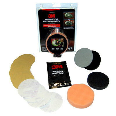3M Headlight Headlamp Lens Restoration Polish Kit.U Just Need A Drill.VideoBelow • 19.92£