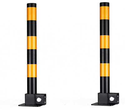 2 Pcs X Steel Removable Folding Security Parking Driveway Vehicle Post Bollards • 39.99£