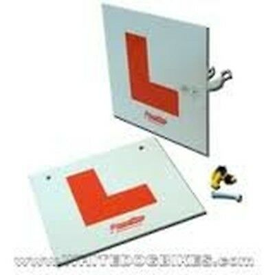 Motorcycle L-Plates Rigid Front & Rear Kit • 10.99£