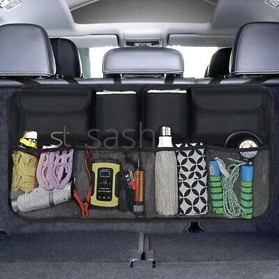 Car Boot Organiser Tidy Back Seat Storage Bag Hanging Pocket Accessories Large  • 9.99£