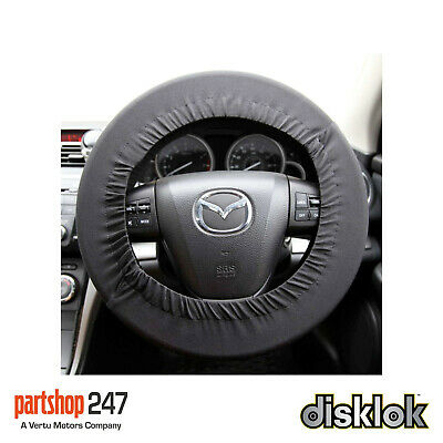 Disklok Car Steering Wheel Protective Cover Stretch Cover Silver - Universal Fit • 7.99£