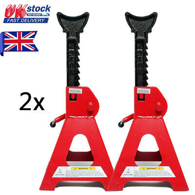 3 Ton Axle Stands Lifting Capacity Stand Heavy Duty Car Caravan Floor Jack Pair • 19.95£