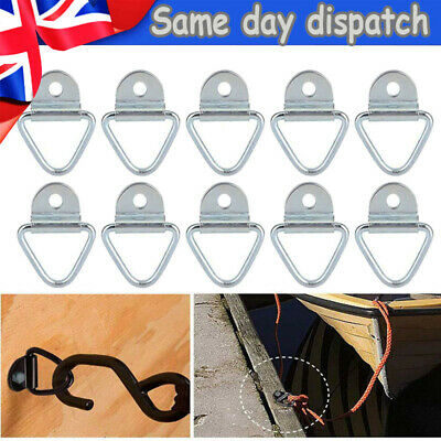 5PCS 2  Cargo Strap Tie Down Rings Flatbed Truck Van Trailer Ring Anchor Set • 8.39£