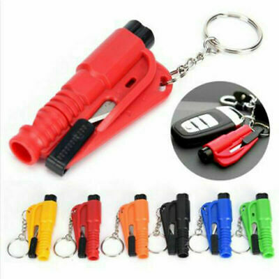 3in1Emergency Escape Rescue Tool Mini Car Life Glass Window Keychain Hammer • 4.44£