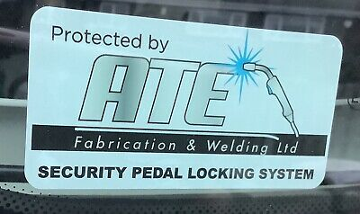 ATE Security Pedal Lock Warning Sticker X2 • 3.60£