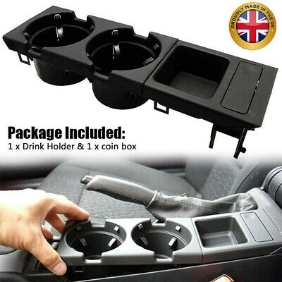 Car Center Console Drink Cup Holder Coin Storage Fit For BMW E46 325 328 330 UK • 17.83£