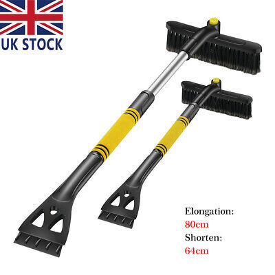 Telescopic Windshield Scraper Winter Ice Snow Shovel Car Removal Brush Cleaning • 11.45£