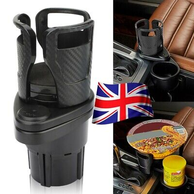2 In1 Universal Car Seat Cup Holder Drink Coffee Bottle Mount 360° Rotating UK • 10.38£