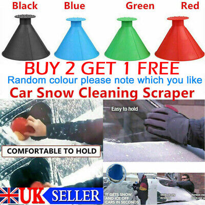Magical Car Windshield Ice Snow Remover Scraper Tool Shaped Round Funnel Cone • 3.99£