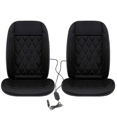 1 Pair Universal Car Front Seat Heated Cushion Cover Electric Heating Pad Warmer • 18.99£