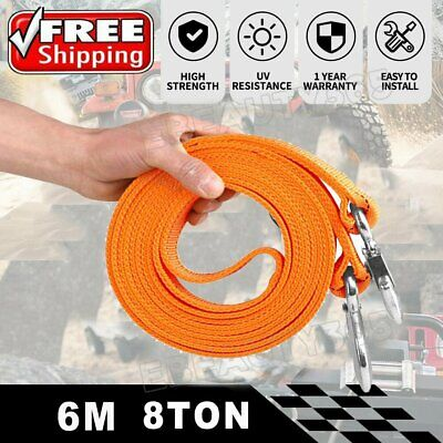 Car Tow Rope 8T 4x4 Heavy Duty Towing Pull Strap Road Recovery With Two Shackles • 12.08£